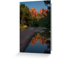Reflection at Cathedral Rock Greeting Card