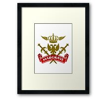 The Margrave Coat-of-Arms Framed Print