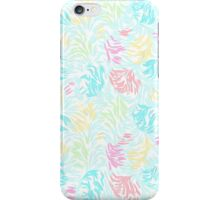 Cute Summer Pastel Watercolor Brush Strokes Pattern iPhone Case/Skin