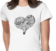 Heart full graffiti love Womens Fitted T-Shirt