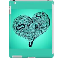 Heart full graffiti love iPad Case/Skin