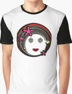 Flower Space Girl Graphic T-Shirt