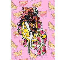 Pink Lemonade Pin-Up Girl Stationary & Decor Photographic Print