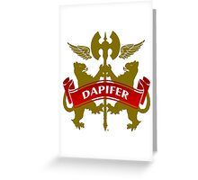 The Dapifer Coat-of-Arms Greeting Card