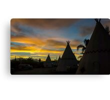 Sunrise at the Route 66 Motel Canvas Print