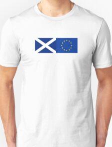 Scotland EU Flag - Scottish Stay In The European Union Sticker Unisex T-Shirt
