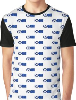 Scotland EU Flag - Scottish Stay In The European Union Sticker Graphic T-Shirt
