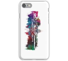Denver skyline city blue iPhone Case/Skin