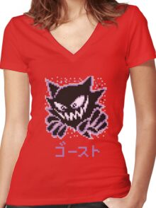 Haunter / ゴースト Women's Fitted V-Neck T-Shirt