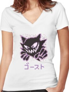 Haunter / ゴースト Women's Fitted V-Neck T-Shirt