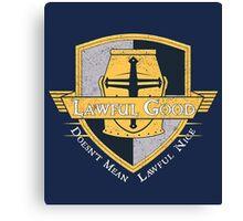 Lawful Good Tee Canvas Print