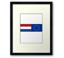 Netherlands EU Flag - Holland Stay In Referendum - The European Union Sticker Framed Print
