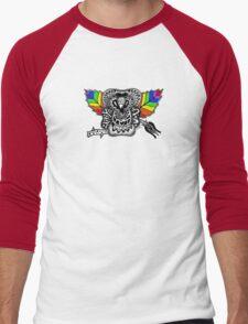 Rainbow Rose graffiti love wins Men's Baseball ¾ T-Shirt