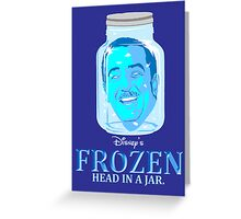 FROZEN (Head in a Jar) Greeting Card