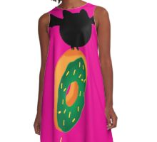 Batty for Donuts A-Line Dress