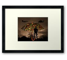 UNDER COVER -PICTURE/CARD Framed Print