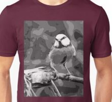 "Birds story, "" fawn paint Picasso ! "" 16 (n&b) (h) the Blue Tit - Olao-Olavia by Okaio Créations  Unisex T-Shirt"