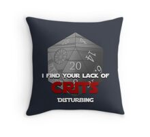 Where are the crits!? Throw Pillow