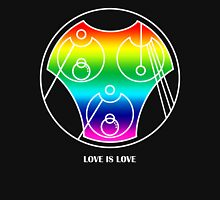 Love is Love in Gallifreyan Circle Alphabet Unisex T-Shirt