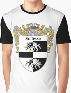 Sullivan Coat of Arms / Sullivan Family Crest Graphic T-Shirt