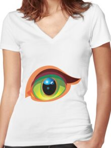 Eye and Beauty Women's Fitted V-Neck T-Shirt