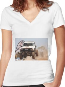 Riverland 4x4 Challenge 2012 Women's Fitted V-Neck T-Shirt