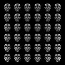 Mexican Skull tiled pattern by PETER CULLEY