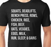 Bodybuilding List For Gains Unisex T-Shirt