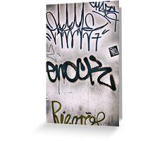 Graffiti Tags Greeting Card