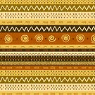 Tribal Gold Stripe and Chevron by SpiceTree