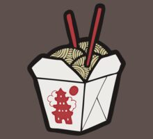 Take-Out Noodles Box Pattern One Piece - Short Sleeve