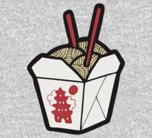 Take-Out Noodles Box Pattern Kids Tee