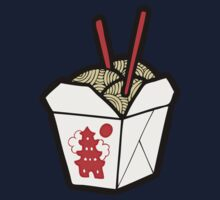 Take-Out Noodles Box Pattern One Piece - Long Sleeve