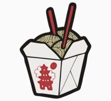 Take-Out Noodles Box Pattern Baby Tee