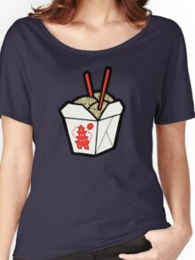 Take-Out Noodles Box Pattern Women's Relaxed Fit T-Shirt