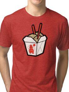 Take-Out Noodles Box Pattern Tri-blend T-Shirt