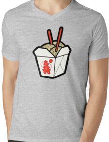 Take-Out Noodles Box Pattern Mens V-Neck T-Shirt