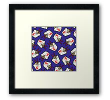 Take-Out Noodles Box Pattern Framed Print