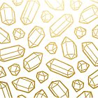 « Gold and White Gemstone Pattern » par evannave