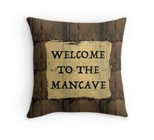 Man Cave Humor Throw Pillow