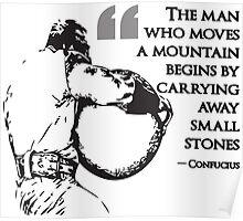 The Man Who Moves A Mountain (Strongman) Poster