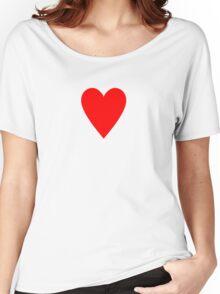 Ace of Hearts - Valentine Heart T-Shirt Duvet Dress Skirt Sticker Card Women's Relaxed Fit T-Shirt