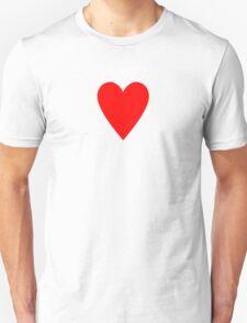Ace of Hearts - Valentine Heart T-Shirt Duvet Dress Skirt Sticker Card Unisex T-Shirt