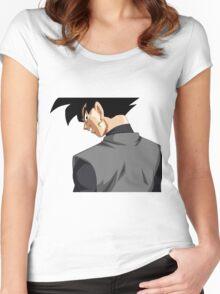 Black Goku   Women's Fitted Scoop T-Shirt