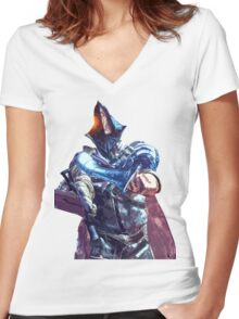 Abyss Watchers, Lord of Cinder from Dark Souls 3 Women's Fitted V-Neck T-Shirt
