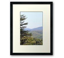 Smoky Vista Framed Print