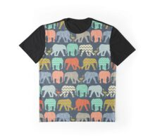 baby elephants and flamingos sienna Graphic T-Shirt