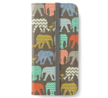 baby elephants and flamingos savannah iPhone Wallet/Case/Skin