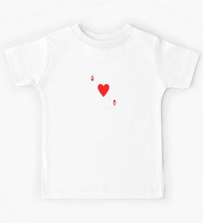 Ace of Hearts Lucky Card T-Shirt Sticker Queen Cushion Kids Tee