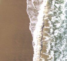 Santa Monica beach by drone Sticker